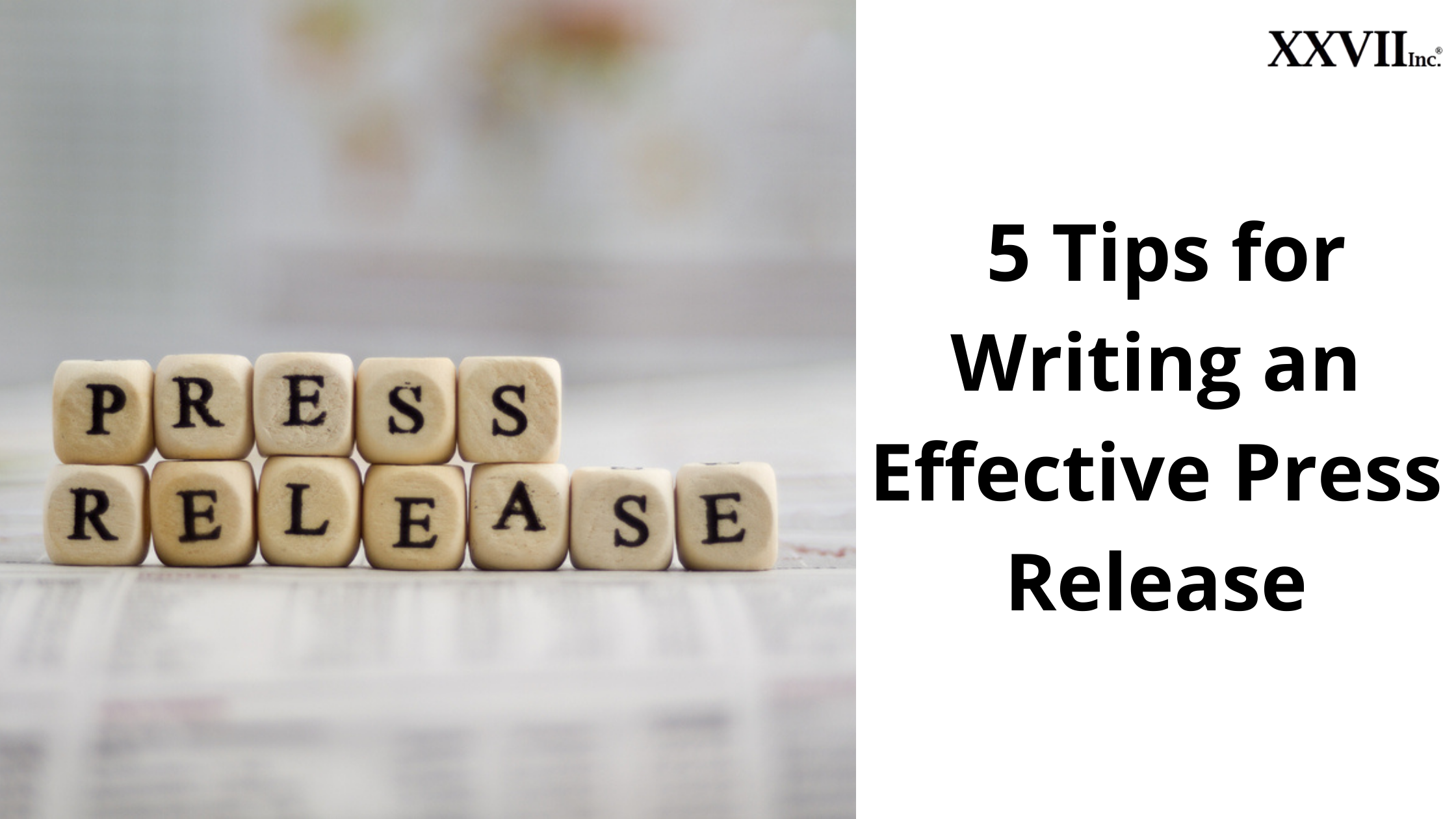 5 Tips for Writing an Effective Press Release